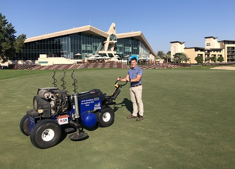 AERATION PROGRAMME FURTHERED AT TROON ABU DHABI